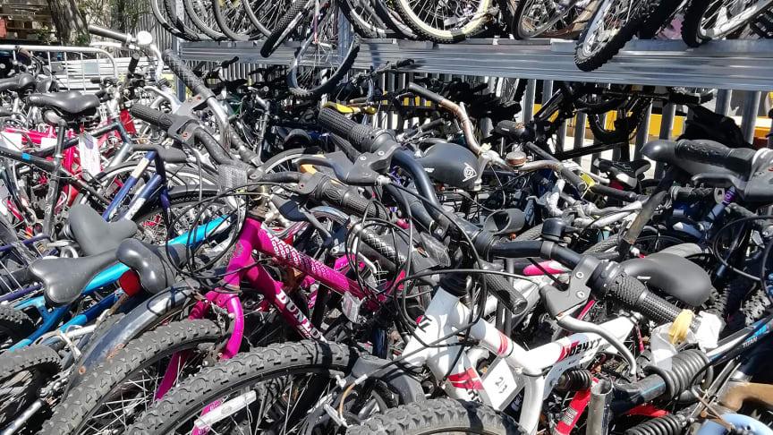 Abandoned bikes at Horsham depot