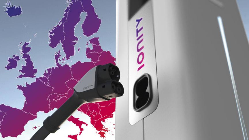 IONITY – et europeisk superraskt hurtigladenettverk som gjør det mulig å kjøre lange distanser med elektriske kjøretøy