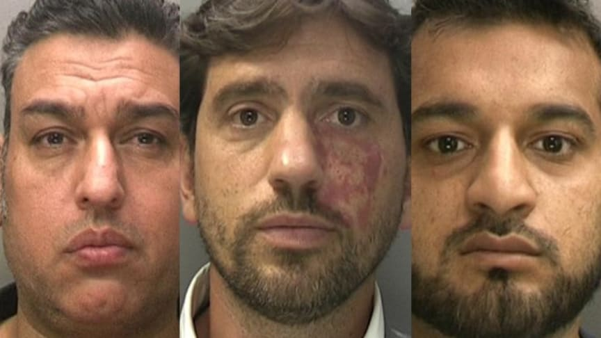 L-R Mohammed Khan, Matthew Sutherland & Mohammed Zaheer have been sentenced for R&D tax relief fraud