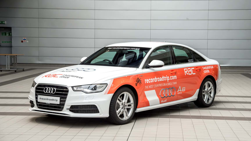 RAC and Audi world record attempt: most countries driven to on a single tank of fuel
