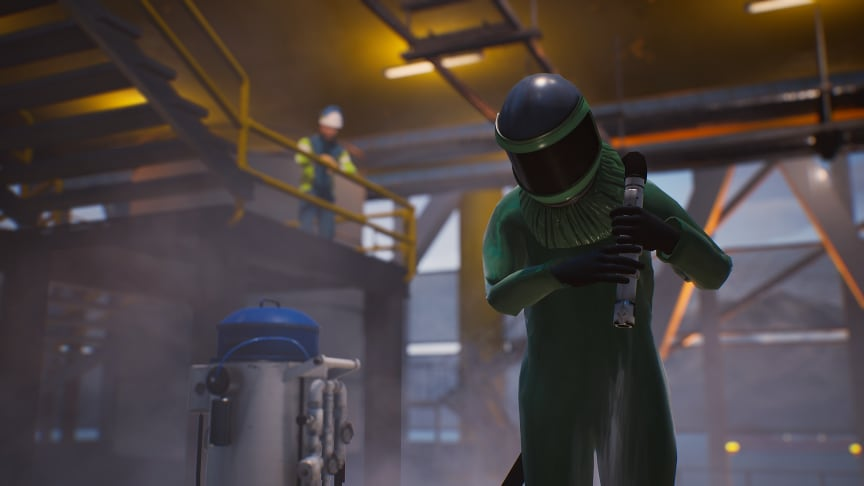 Worker in hazardous area