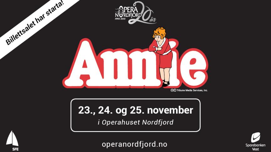 Annie er premiereklar fredag 23. november i Operahuset Nordfjord