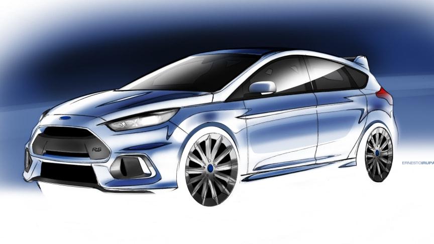 Ford Focus RS gör global debut och Ford GT europeisk debut på motormässan i Genève