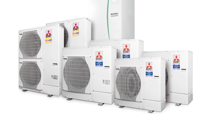 Ny luft til vann varmepumpemodell fra Mitsubishi Electric