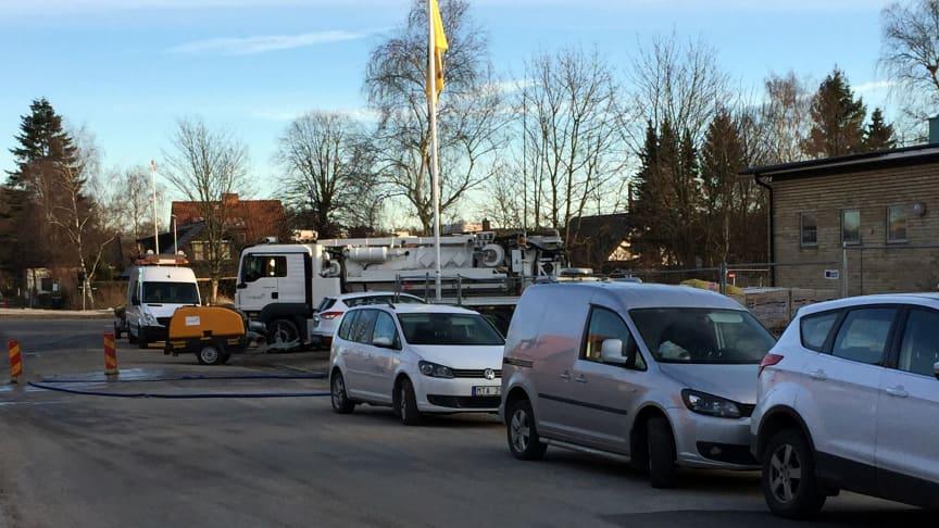 Lapplandsvägen i Eslöv 6 januari