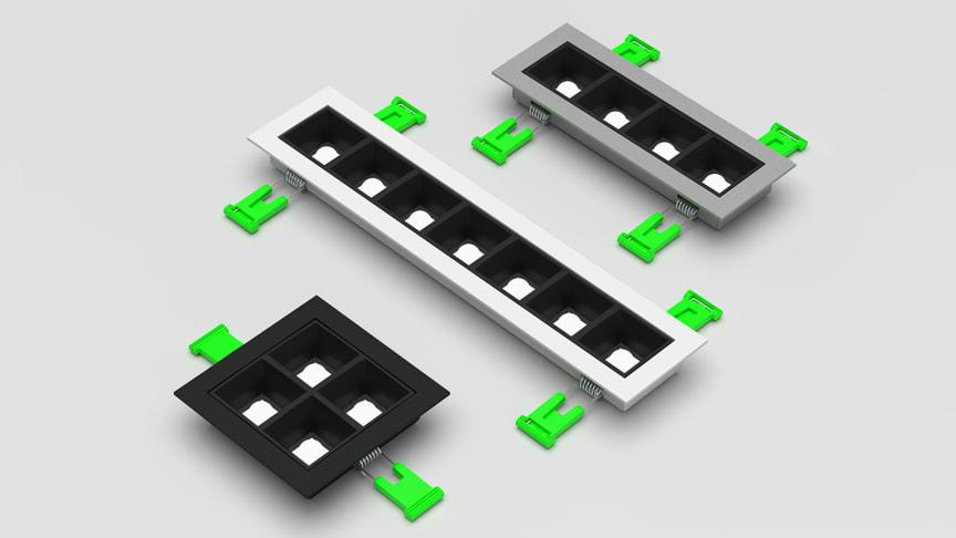 Kompakt und effizient in drei Größen, so präsentiert sich die neue Leuchtenserie Choc.