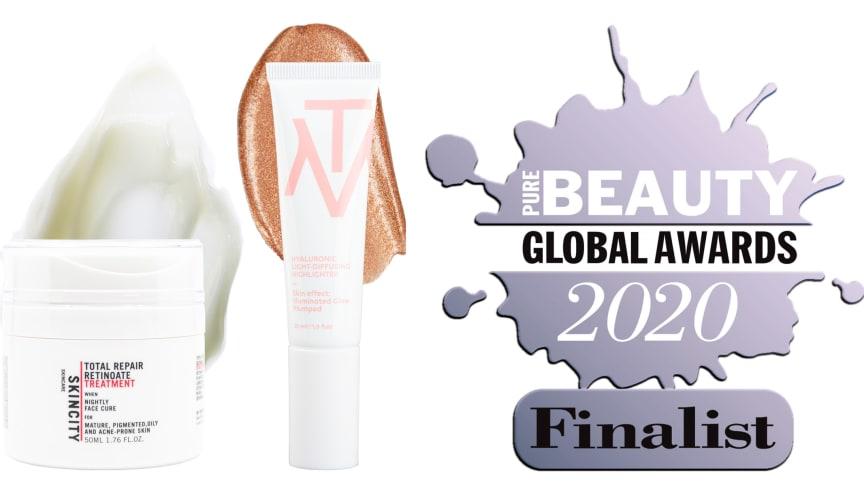 "SKINCITY skincare och MAKETHEMAKE är finalister i årets Pure Beauty Global Awards i hela fyra kategorier, bland annat ""Best New International Breakthrough Brand""."