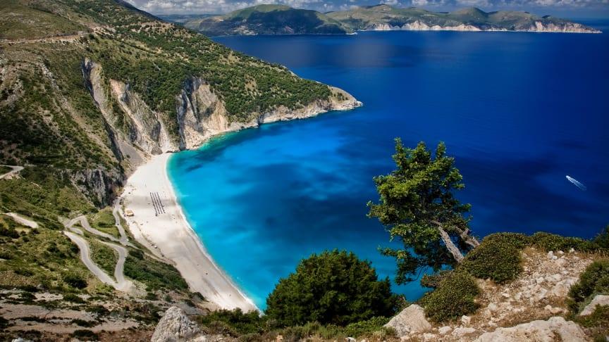 Myrthos Beach Kefalonia, Grekland