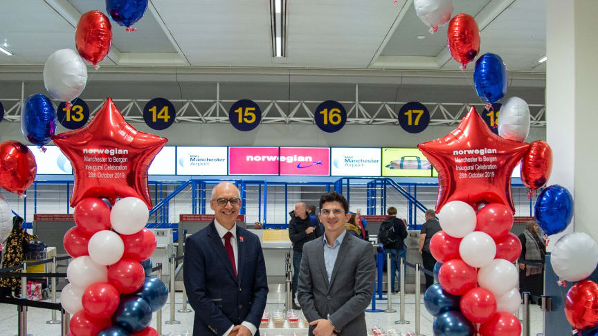 Mitchell Hawes, Sales Manager UK & Ireland, Norwegian and Nico Spyrou, Head of Marketing, Manchester Airport