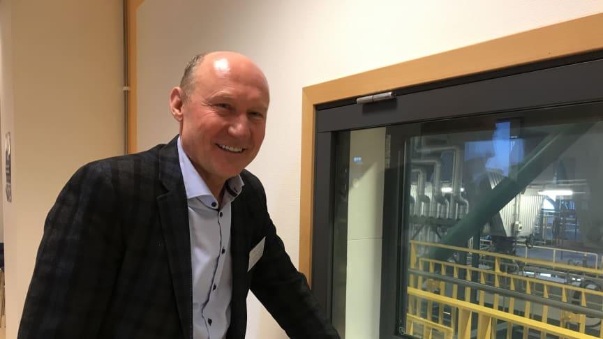 På spaning efter effektiva underhållsmetoder. Dr. Valdas Lukoševičius, ordförande för den litauiska fjärrvärmeorganisationen Lithuanian District Heating Association på besök hos Öresundskraft.