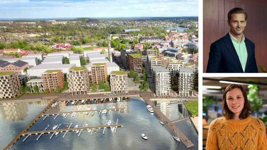 Guro Varvin Hjelseng og Anders Wehmer har i februar tiltrådt som nye prosjektledere i Höegh Eiendom.