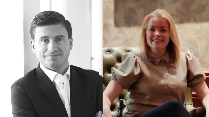 Philippe Suhard (Compricer) och Annika Saramies (Gofido)