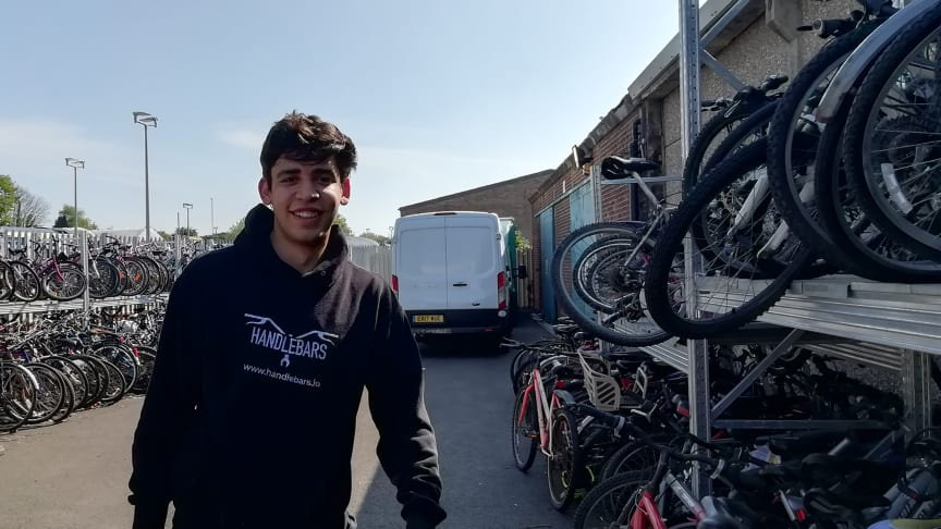 Handlebars cycle mechanic Andre Noble rated the recycling potential of over 270 abandoned bikes at Southern's Horsham Depot