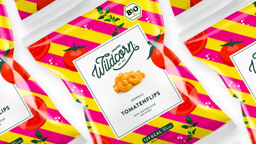 Nach Veggie-Chips kommen jetzt Veggie-Flips. Endlich mal ohne Erdnuss, dafür mit fruchtiger Tomate.