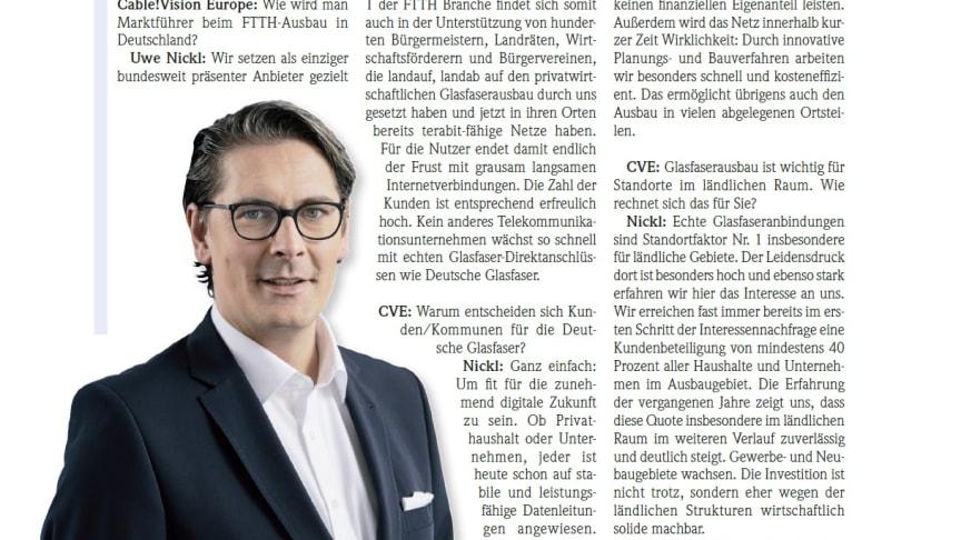 """Uwe Nickl: """"Die Menschen akzeptieren die Bremse auf der Datenautobahn nicht mehr"""""""
