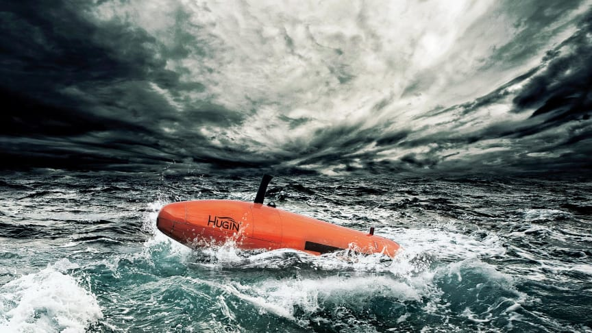 The two companies cooperate on marine survey methods and technology, and have invested in an Hugin AUV. Photo: Kongsberg Maritime.