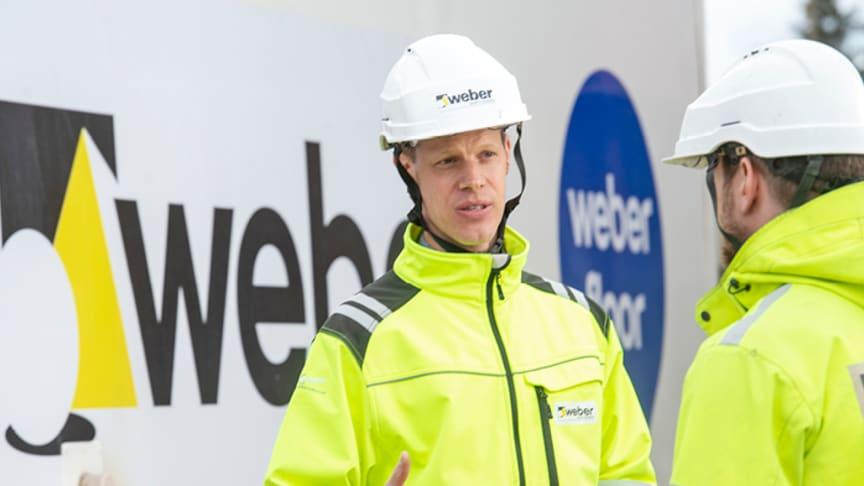 Webers Arkitekt- och konstruktörssupport stöttar i tekniska frågor inom produktområde golvavjämning