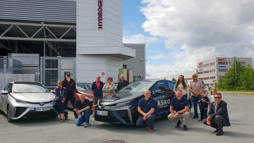 Asko-ansatte får Norges største hydrogenbilpark