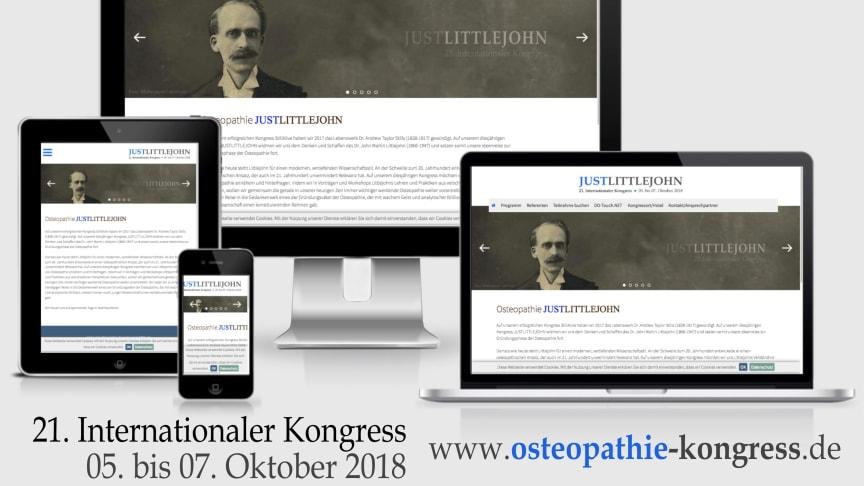 """21.  Internationaler Osteopathie-Kongress """"JUSTLITTLEJOHN"""":  Anmeldung ab sofort möglich"""