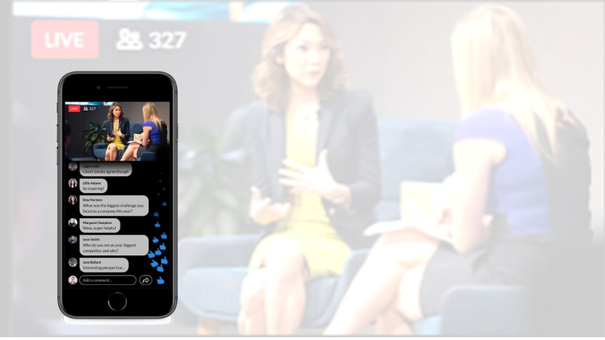 Screen shot of LinkedIn Live video streaming, in our studio. Source: Mashable