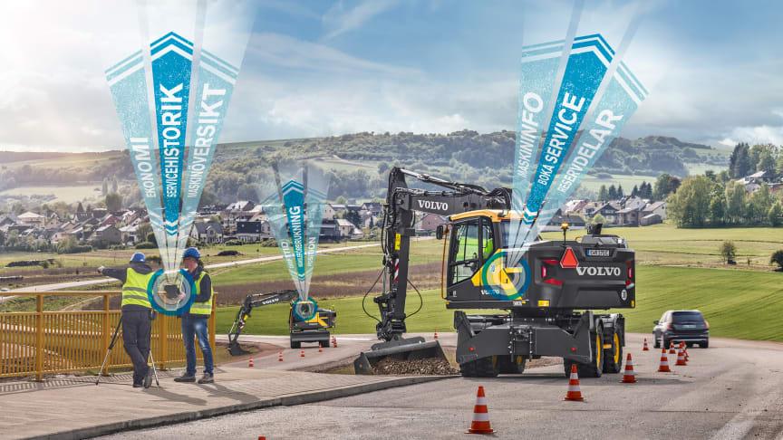 mySwecon är Volvo-ägarens digitala assistent på jobbet. Portalen presenteras på Svenska Maskinmässan 2018.