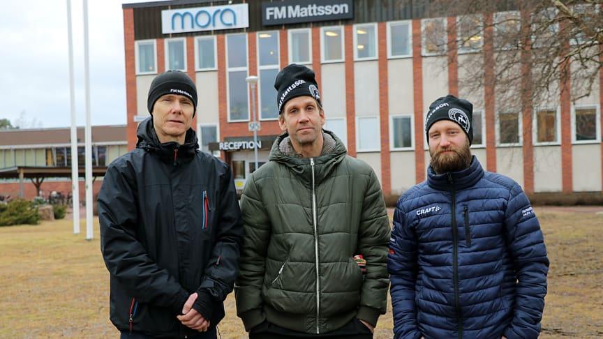 Medarbetarna Kenneth Lindkvist, Magnus Granlund och Robin Boss – är anmälda till tre av vinterveckans lopp: Vasaloppet 30, Vasaloppet 45 och Vasaloppet 90.