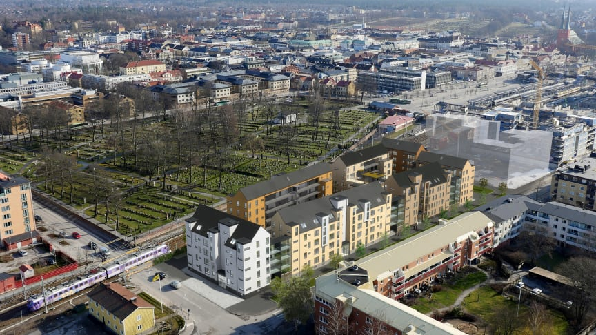 Pressinbjudan: Första spadtaget för Brf Lokstallet i Växjö