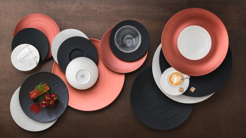 A slate look, copper accents and bold contrasts – the successful Manufacture Rock collection continues to grow