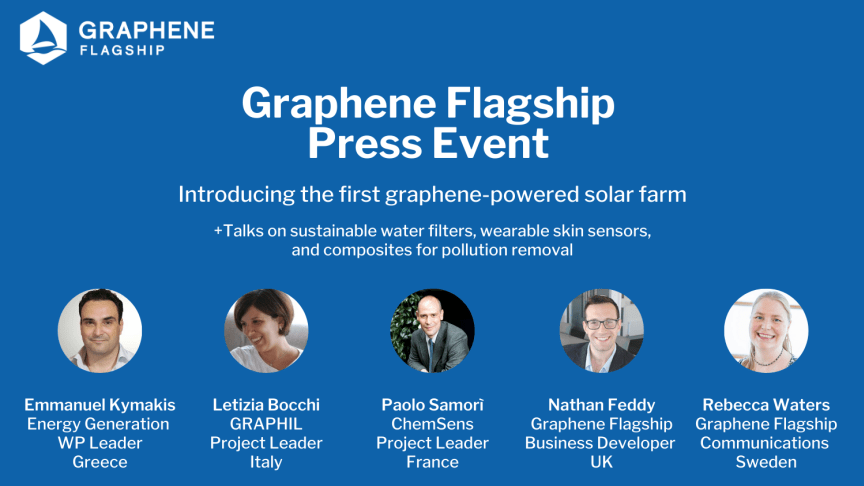 Graphene Flagship Press Event - Introducing the first ever graphene-powered solar farm
