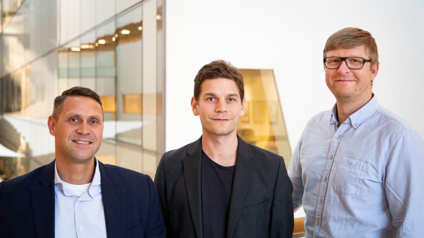 Bolagets grundare och forskarna bakom Vitroprobes innovation Martin Andersson, professor i kemi, Gustav Sundell doktor i fysik och Mats Hulander, doktor i biologi