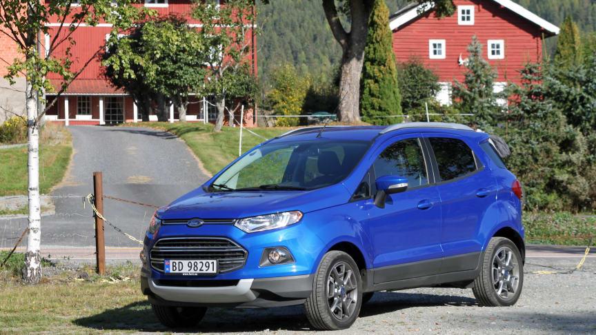 SMÅ-SUV I VINDEN: Det har vært en voldsom økning i etterspørselen etter Ford Ecosport i Europa. Også i Norge har nyheten fått en varm velkomst