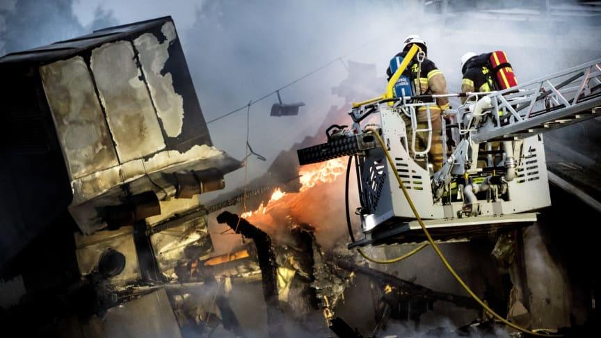 MSB startar en utredning av branden som uppstod i Polarbröds fabrik i Älvsbyn den 24 augusti. Obs, bilden som ses har inget att göra med insatsen vid branden i Polarbröds fabrik.