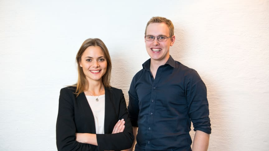Prions grundare VD Fredrika Bernadotte och CTO Tobias Brander, foto: Oscar Lundgren