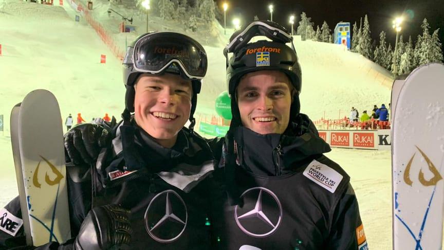 Walter och Ludvig efter superfinalen. Foto: Anders Olofsson