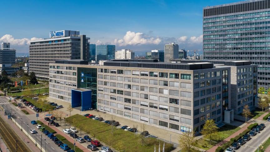 Campus Carrée in der Lyoner Straße 25, Frankfurt a. M. (Quelle: Aroundtown SA/TLG Immobilien AG; Urheber: Reinhardt & Sommer)