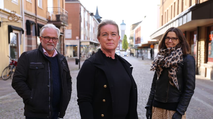 Peter Blom, Anna Engesvik och Charlotta Lidberg.