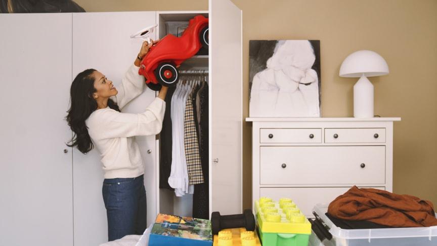 Många passar på att rensa under påsk. Foto: Evelina Carborn
