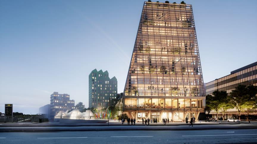 Fyrtornet blir ett av Sveriges högsta kontorshus i trä.