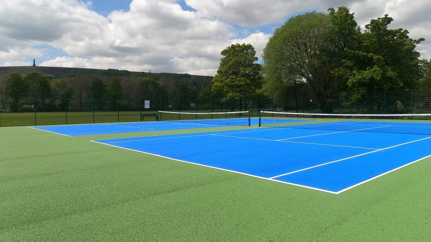 Anyone for tennis? The new facilities are great!