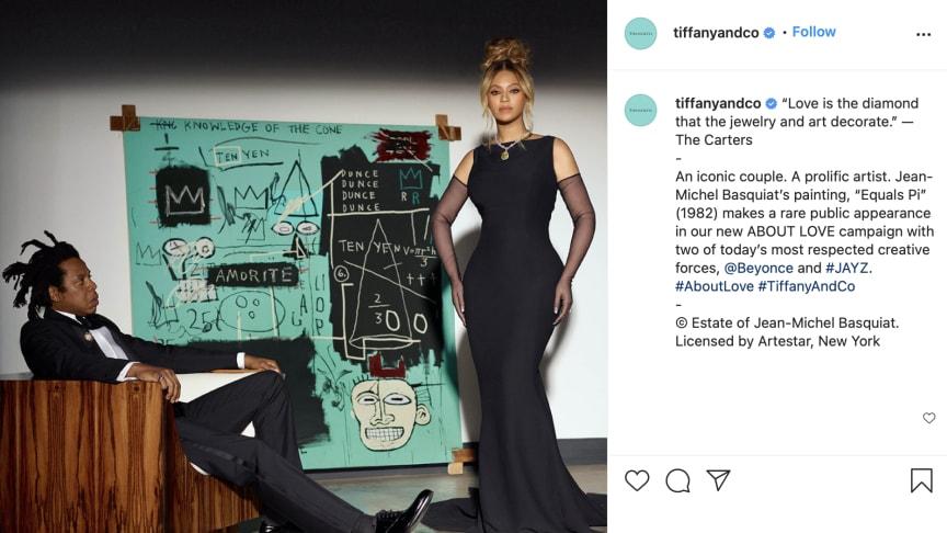 Screenshot of Tiffany's Instagram page
