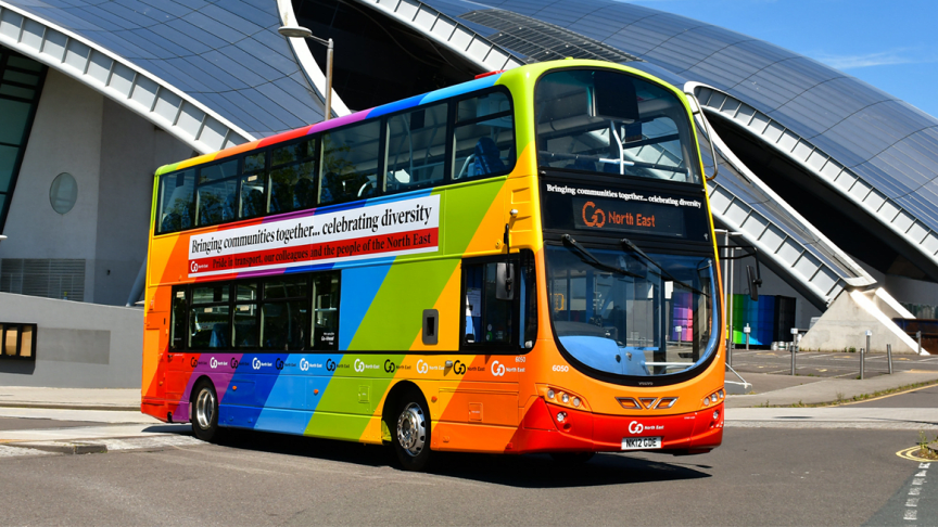 Go North East celebrates Pride Month with sponsorship and activities