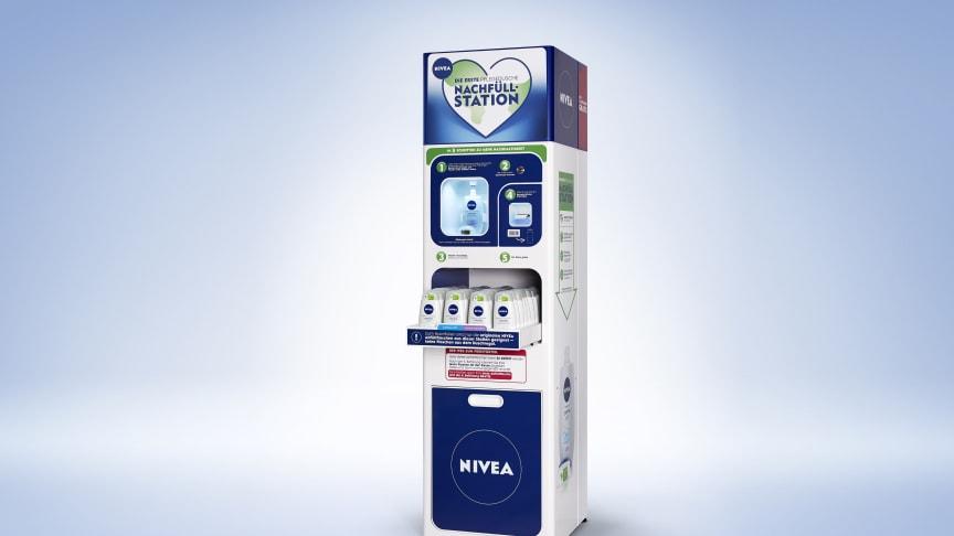 NIVEA und dm-drogerie markt testen Nachfüllstationen