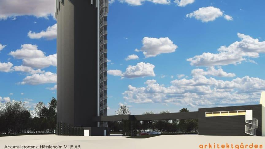Den nya ackumulatortanken kommer att förändra Hässleholms skyline