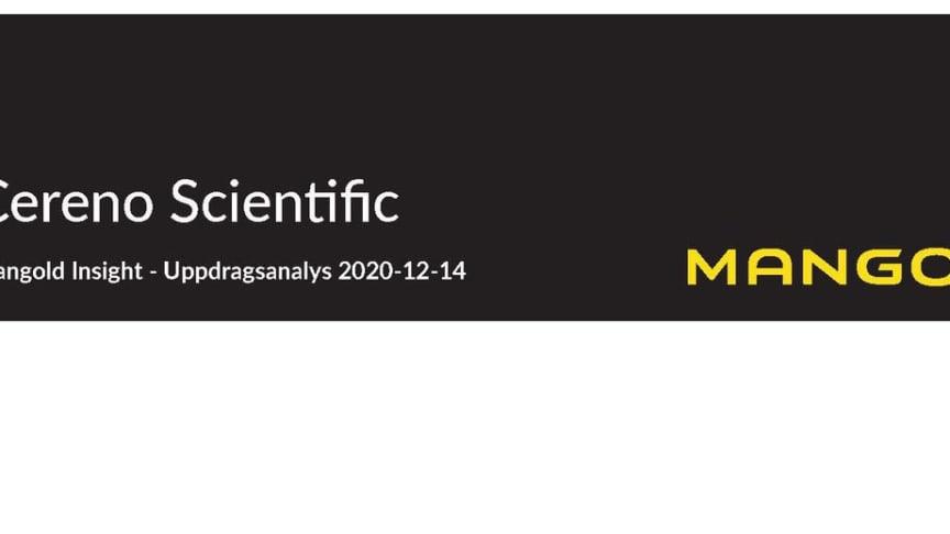 Mangold insight publicerar uppdragsanalys om Cereno Scientific