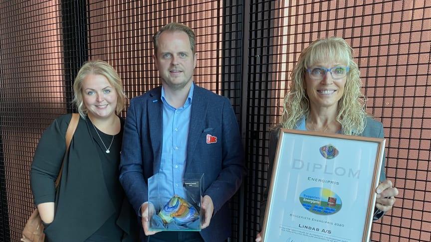 René Jensen, Salgschef hos Lindab, var den glade modtager af prisen