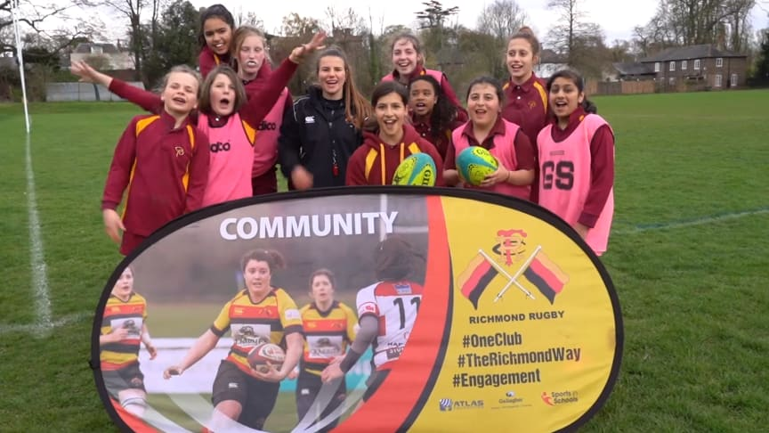 Richmond Rugby has delivered after-school training thanks to Sport England Satellite Club funding