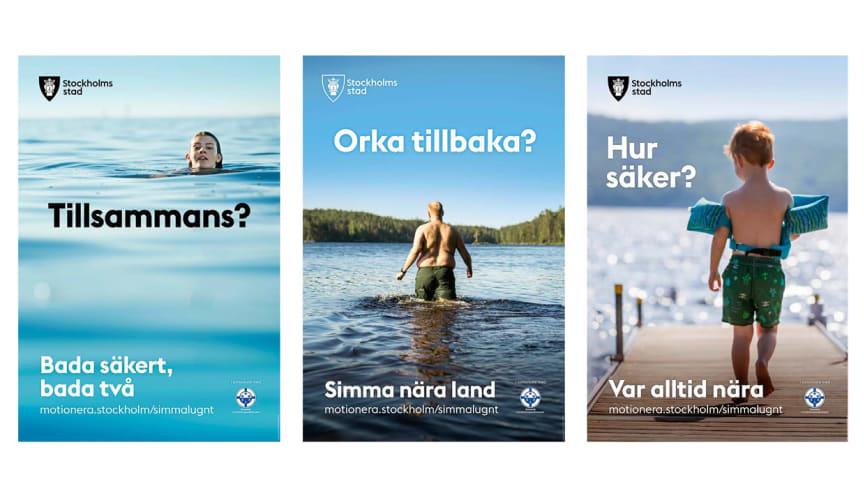 Exempelbilder från kampanjen. Källa: Stockholms stad