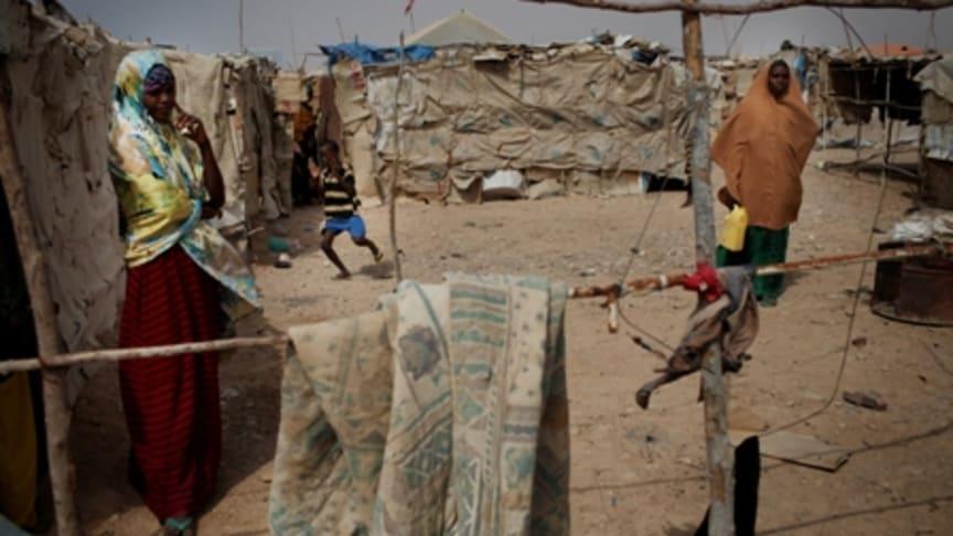 Flyktingar i kö till redan överfyllda läger