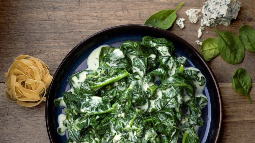 Findus bladspenat med gorgonzola