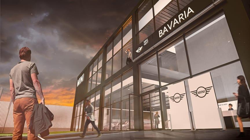 MINI Flagship Store åpner vegg i vegg med Bavarias eksisterende anlegg for BMW i Danderyd.